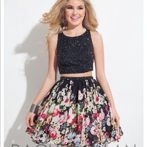 Rachel Allan Floral Prima Donna 2 pc dress size 6